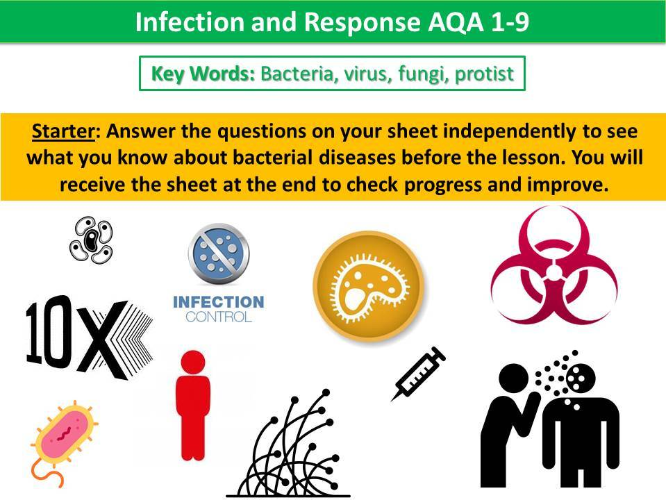 Infection and Response (Diseases) AQA 1-9 Combined