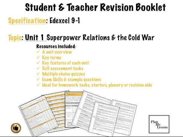 Edexcel Superpower relations & the Cold War Student & Teacher guide Unit 1