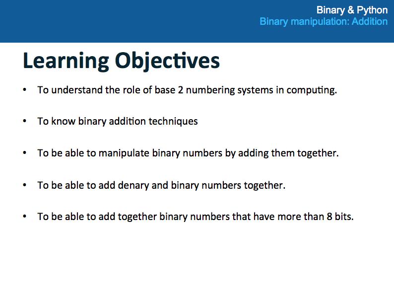 Binary Manipulation: Addition (Lesson 3 of 4)