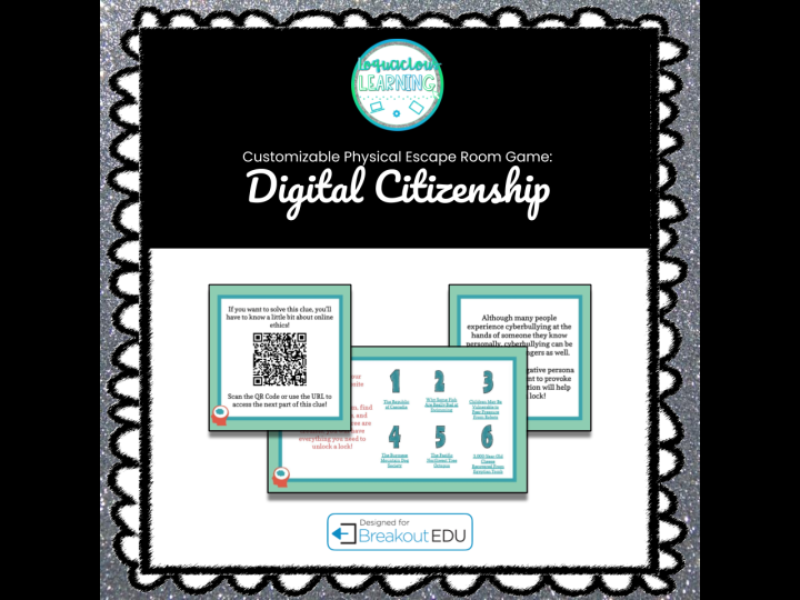 Digital Citizenship & Online Safety Physical Escape Room/Breakout Game