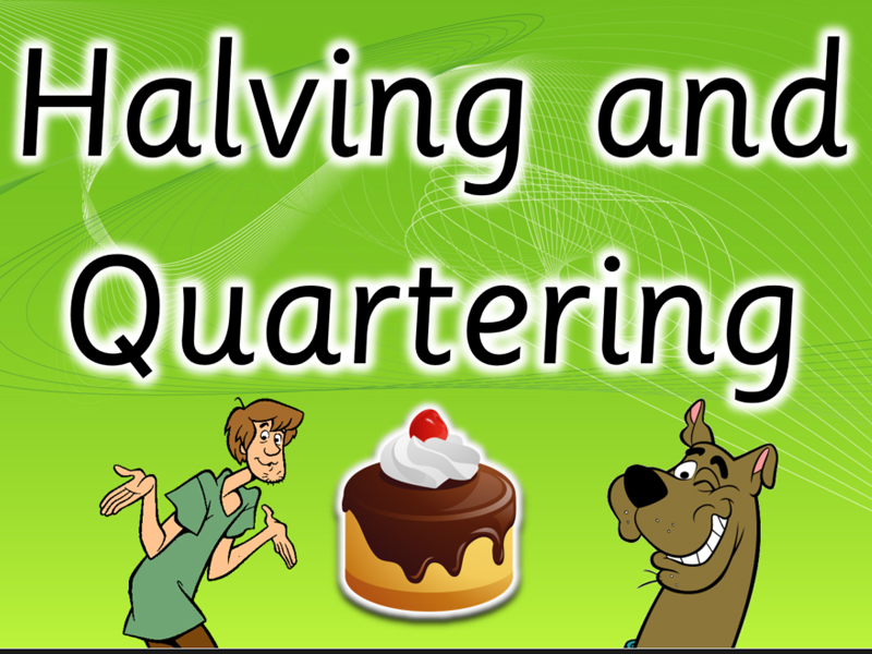 Fractions Halves and Quarters. Interactive Scooby Doo Ppt AAAA+