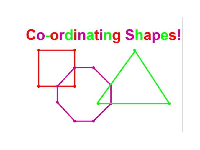 Co-ordinate Shapes