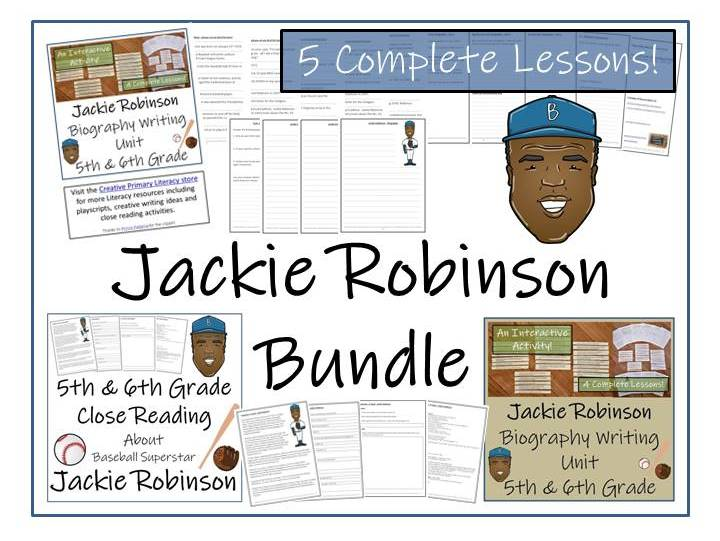 Bundle Of Jackie Robinson Activities By Irvine109