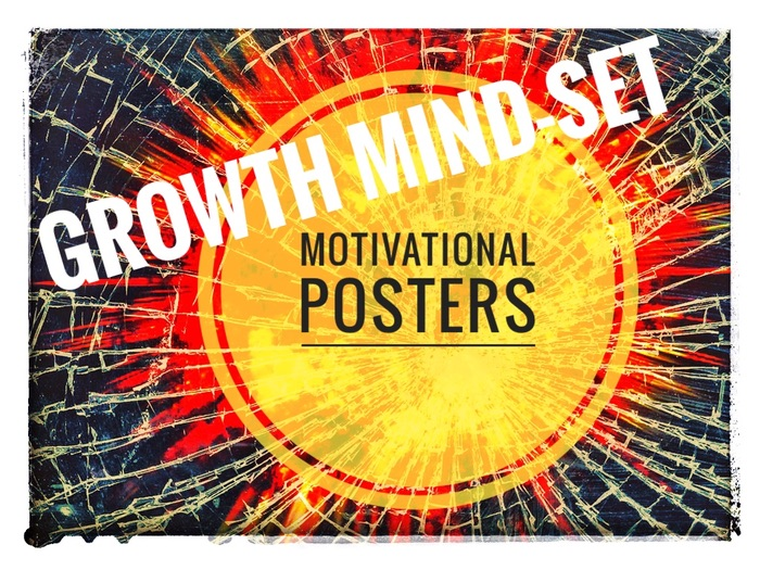 Growth Mindset Motivational Posters Bundle