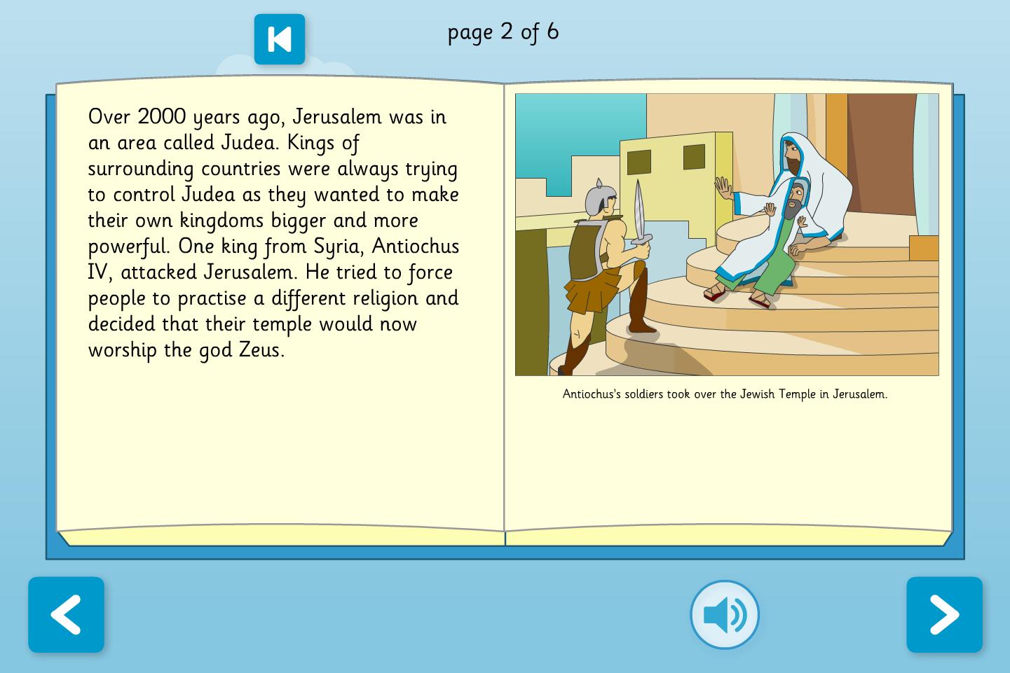 Hanukkah Interactive Information Book - Reading Level A - Hanukkah KS1