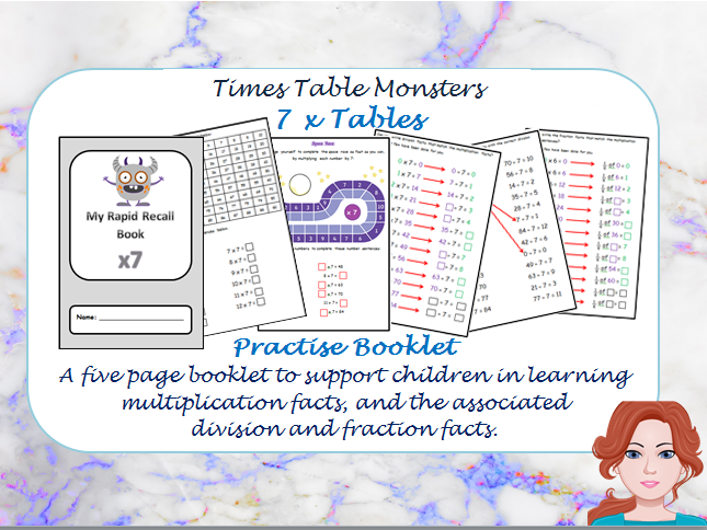 7 x Table Practise Booklet