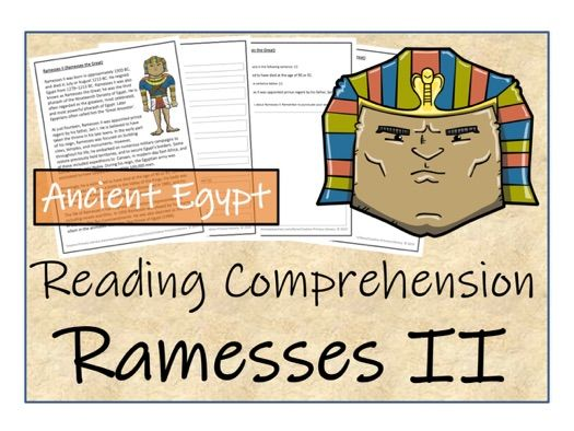 UKS2 History - Ramesses II Reading Comprehension Activity