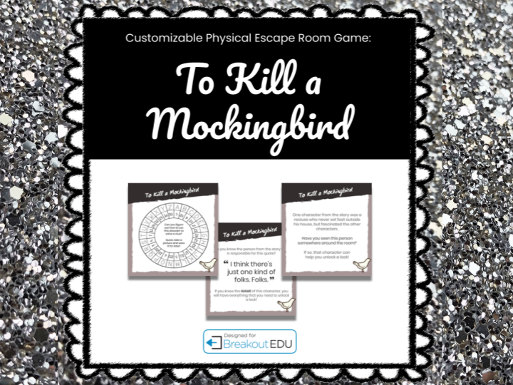 To Kill a Mockingbird Customizable Breakout Game w/Digital Lesson