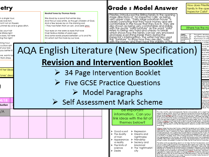 English Literature Intervention & Revision Booklet (AQA, 9-1 GCSE)