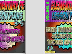 K-5 Physical Education Lesson Plans Volume 6 Bundle