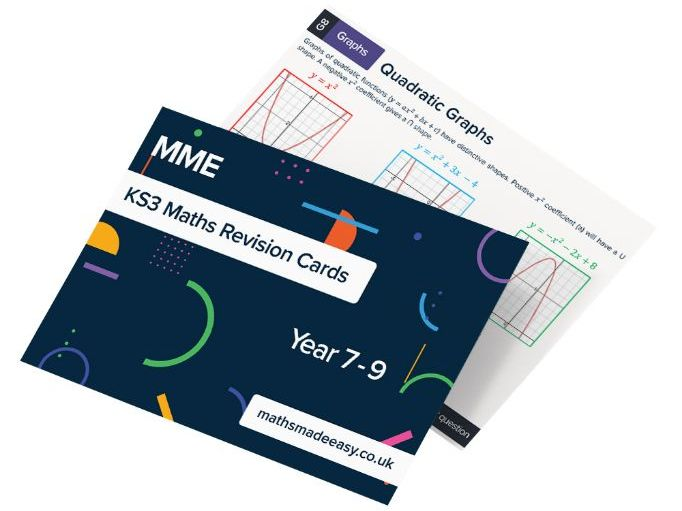 KS3 Maths Revision Cards - Maths Made Easy