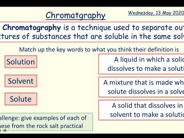 Chemical Analysis - KS4 Whole Topic