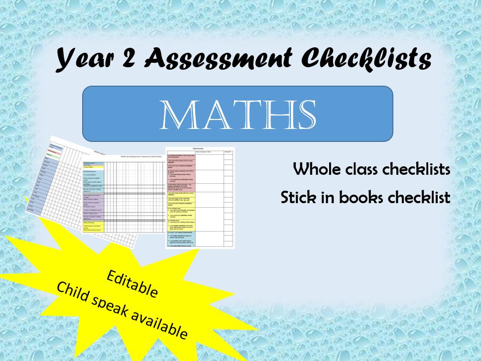 Year 2 Maths Assessment Checklist