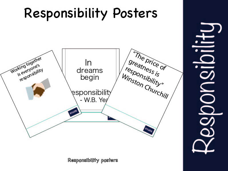 Responsibility posters