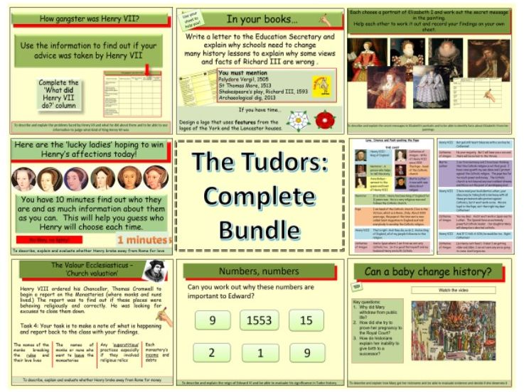 The Tudors complete Bundle: Henry VII, Henry VIII, Edward VI, Mary I and Elizabeth I (1485-1603)