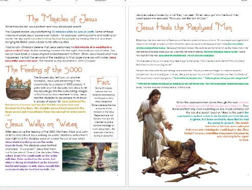 Miracles of Jesus: Differentiated Activity Sheets