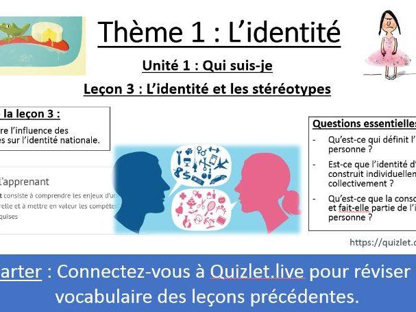 IB FRENCH B 2020 - Identité L3 - Stéréotypes