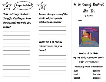 A Birthday Basket for Tia Trifold - Reading Street 2nd Grade Unit 6 Week 3