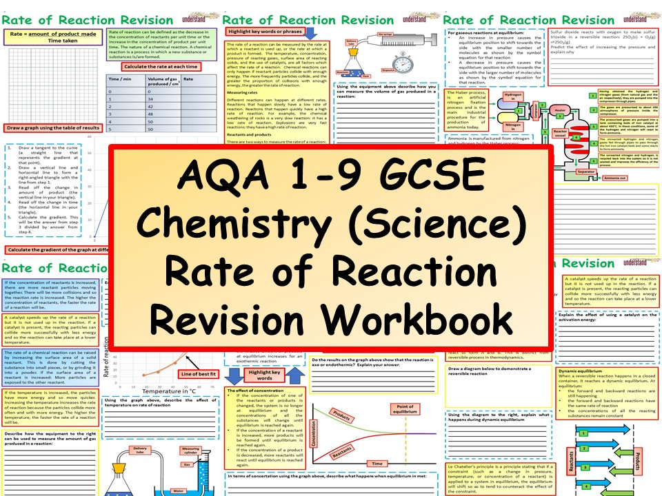 AQA 1-9 GCSE Chemistry (Science) Rate of Reaction Revision Workbook