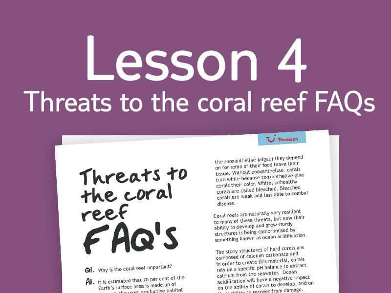 Lesson 4 - FAQs for teachers