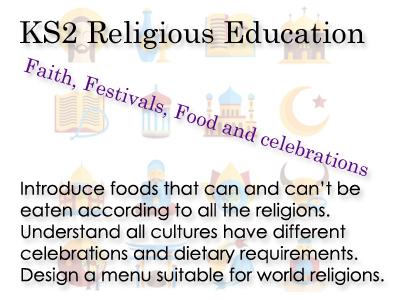 KS2 RE -Faith, Festivals, Food and Celebrations