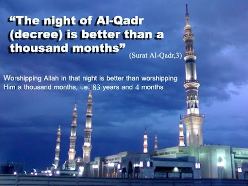 """EDEXCEL RS GCSE """"Laylat al-Qadr (the Night of Power) is better than a thousand months."""""""