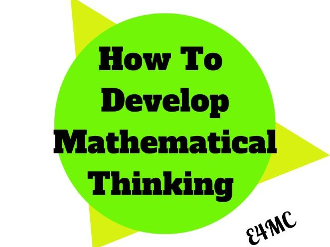 How to develop effective mathematical thinking in the primary classroom.