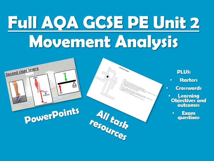 Complete AQA GCSE PE Unit of Work - Unit 2 - Movement Analysis