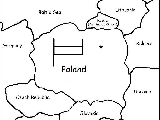 photograph regarding Printable Map of Poland identify POLAND - Printable handout with map and flag