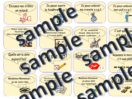 Target Language Classroom Signs: French