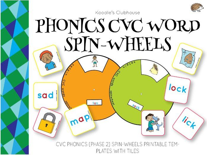 Phonics Spin Wheels CVC words