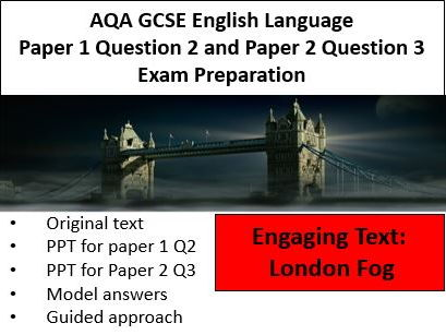AQA GCSE English Language Paper 1 Question 2 and Paper 2 Question 3 Exam Preparation