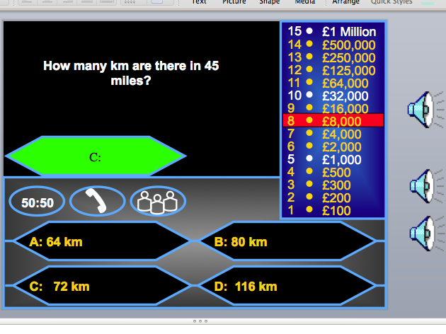 GCSE Maths AQA Edexcel Higher Classic who wants to be a millionaire game
