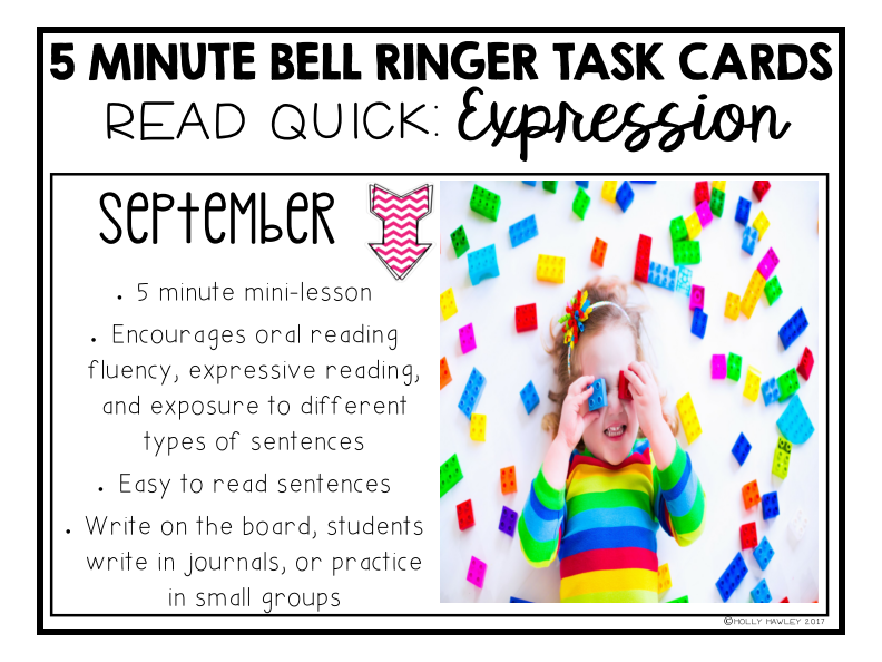 Read Quick Bell Ringer Task Cards-SEPTEMBER