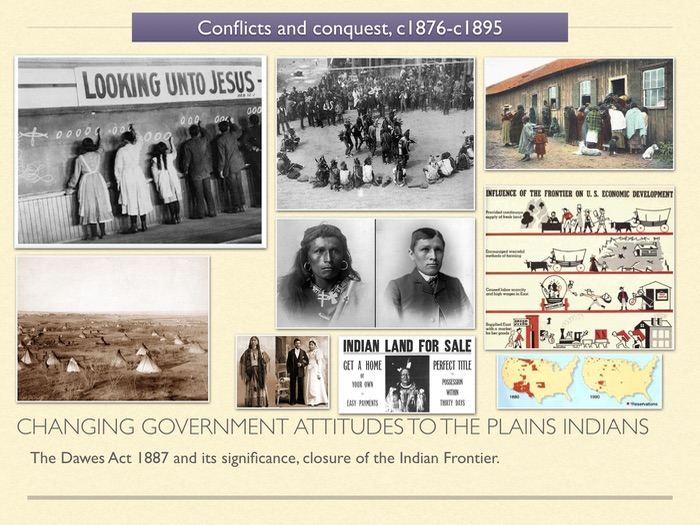 GCSE History of American West in 1800s unit 3 Changing government attitudes to the Plains Indians