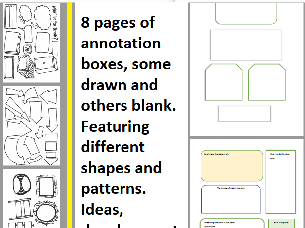 Annotation Boxes Selection - Drawn and Formatted