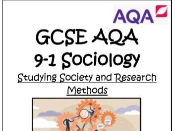 GCSE 9-1 SOCIOLOGY STUDYING SOCIETY RESEARCH METHODS MODEL ANSWERS
