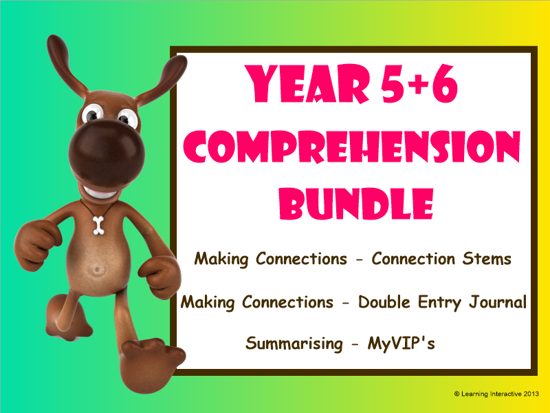 Working with the Super Six - Comprehension Bundle - Making Connections, Summarising - Year 5+6
