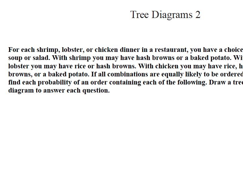 GCSE MATHS REVISION  Tree Diagrams