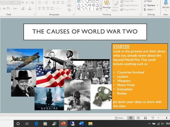 Causes of the Second World War (1-2 Lessons)