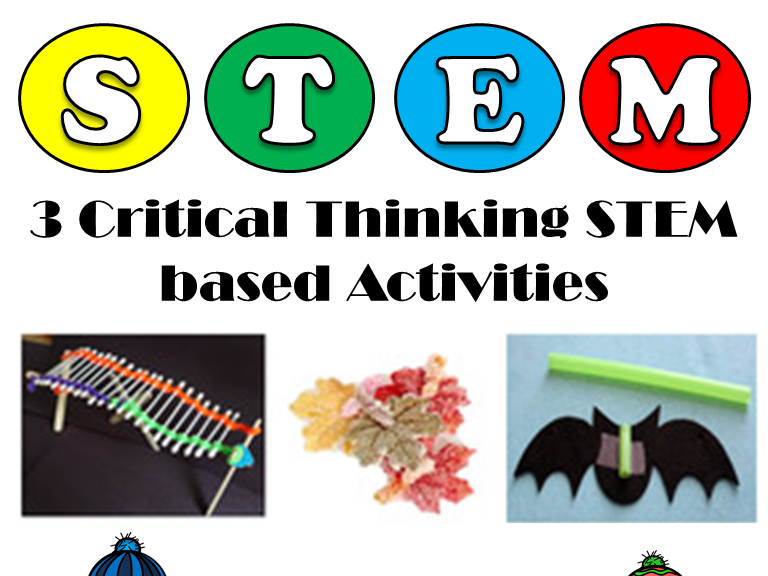 3 Critical Thinking STEM Based Activities: Supply, After-school, Small Groups...