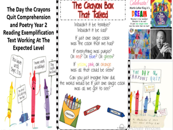 The Day the Crayons Quit Year 2 Comprehension