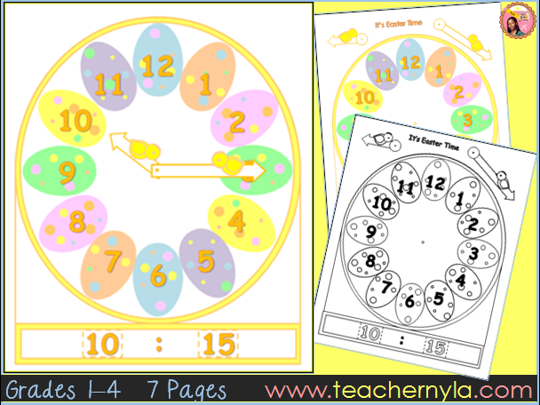 Easter Math Time Clock