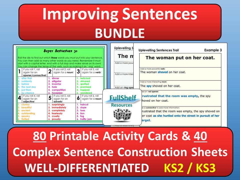 Improving Sentence Structure By Fullshelf Teaching Resources Tes