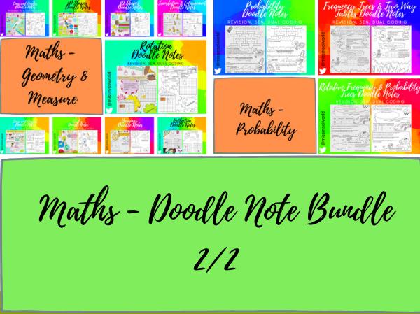 Maths GCSE Foundation Doodle Notes Bundle 2/2