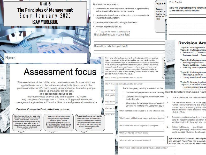Unit 6 Exam guide 2020 Principles of Management