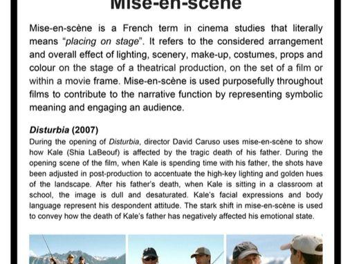 Mise-en-scene POSTER (.pdf) - Media Studies