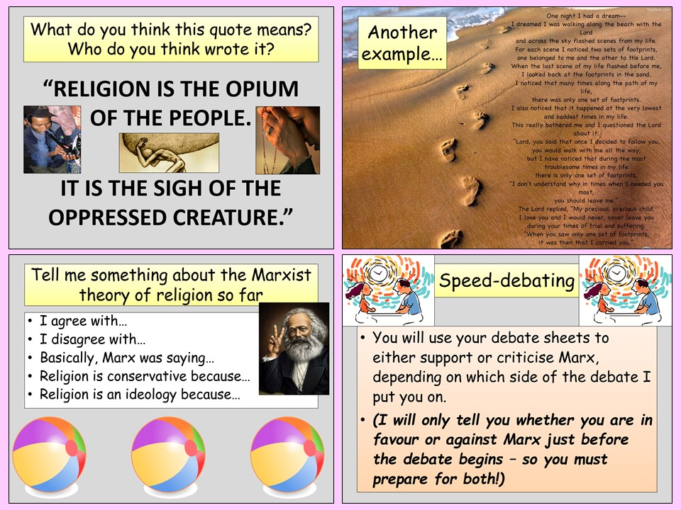 AQA A-Level Sociology - Marxist Theory of Religion (3 lessons) - Beliefs in Society Topic