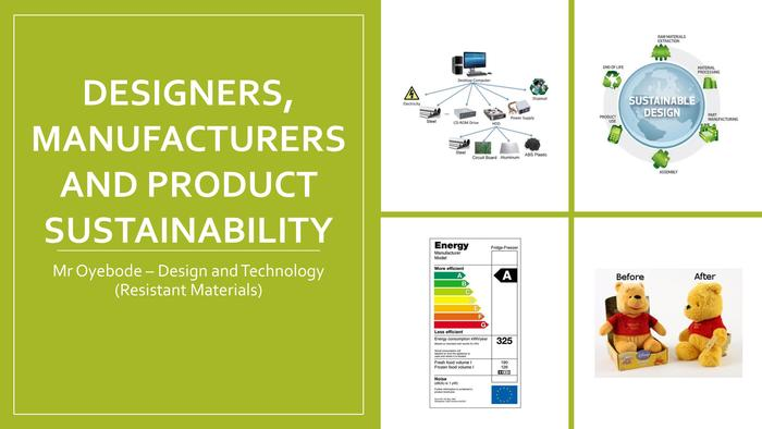 Designers, manufacturers and product sustainability