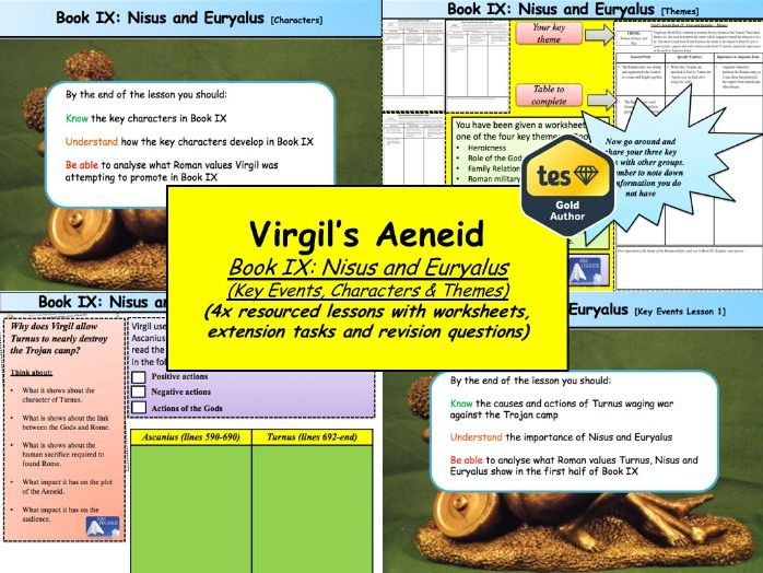 Virgil's Aeneid Book IX: Nisus and Euryalus (4x Lessons) [New OCR A-Level: 'The World of the Hero']